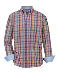 Košeľa s károvanou potlačou