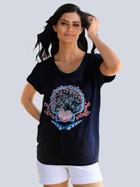 Strandshirt mit Muschelmotiv
