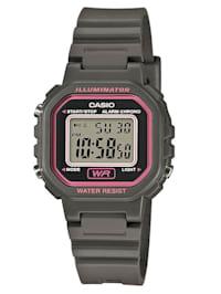 Damen-Digital-Uhr Chronograph grau LA-20WH-8AEF
