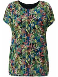 Shirt Blusen-Shirt mit überschnittener Schulter .