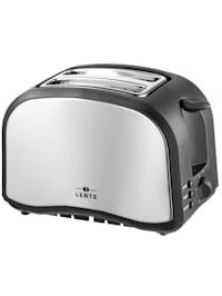 2 Scheiben-Toaster Silber Schwarz
