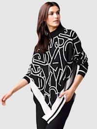 Pullover mit exklusivem Jacquard im Vorderteil