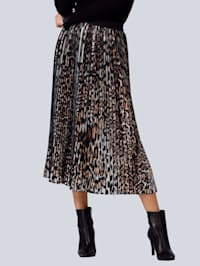 Sukňa s predlžujúcimi plisé záhybmi