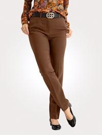 Kalhoty v pohodlné krepové kvalitě