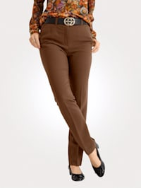 Trousers made from a comfortable fabric blend