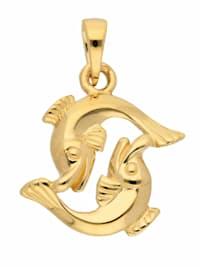 1001 Diamonds Damen & Herren Goldschmuck 585 Gold Sternzeichen Anhänger Fisch