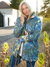 Jacke in floralem Druckdesign