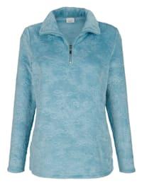Fleece trui met schipperskraag