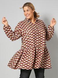 Dlouhá tunika s módním potiskem