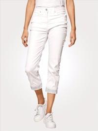7/8-Jeans mit fixiertem Umschlag
