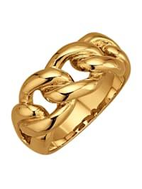 Bague chaîne doré