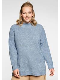 Pullover in Bouclé-Qualität