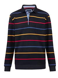 Sweat-shirt à motif rayé tissé teint