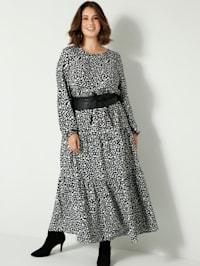 Maxi-jurk met elastische taille