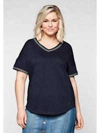 Sheego Shirt aus reiner Baumwolle, mit Stickerei