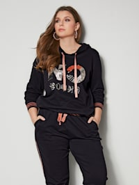 Sweatshirt mit Pailletten Motiv