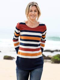 Sweatshirt mit breiten Streifen
