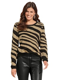 Pullover im Zebra-Dessin