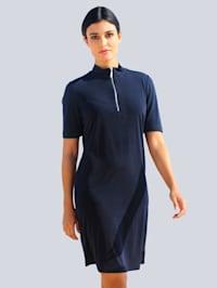 Jerseyklänning med dragkedja