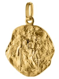 Anhänger Christophorus Gold 585 (14 Karat) Ø 16 mm