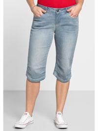 Capri-Jeans mit Knieabnähern