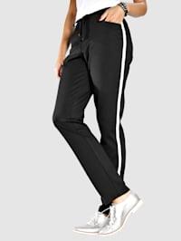 Pantalon avec bandes côtés
