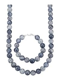 Parure de bijoux 2 pièces en cristal de roche