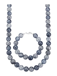 2-delige sieradenset met bergkristal