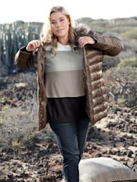 Gewatteerde jas met capuchon