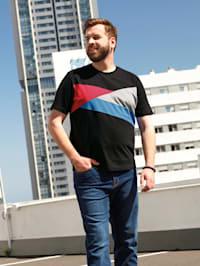 T-Shirt im Color Blocking Design