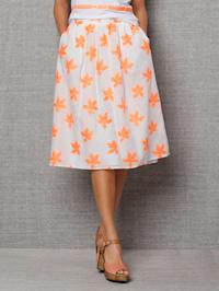 Kjol med bladmönster