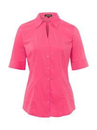 Baumwoll/Stretch Bluse, pink berry