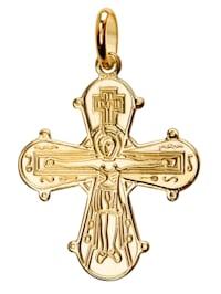 Anhänger 333 Gold Kreuz