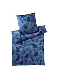 Mako-Satin Bettwäsche Color Duo midnight blue