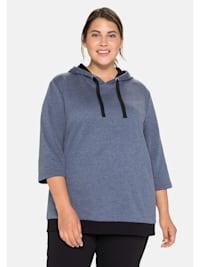 Sweatshirt mit 3/4-Ärmel und Kontrastdetails