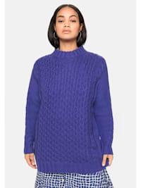 Pullover mit Zopfmuster, in weicher Qualität