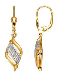 Boucles d'oreilles avec 2 diamants