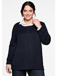 Pullover mit Teilungsnaht vorn