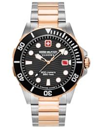 Taucheruhr für Herren Offshore Diver Bicolor Schwarz
