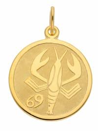 1001 Diamonds Damen & Herren Goldschmuck 333 Gold Sternzeichen Anhänger Krebs Ø 16 mm