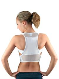 Hållningsstöd med plaststavar i ryggen