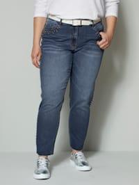 Jeans met klinknageltjes