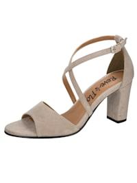 Sandales avec brides croisées