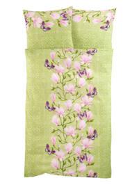 Parure de lit 2 pièces 'Magnolia' en flanelle