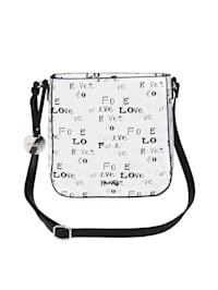 Shoulder bag with a graphic print
