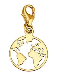 Erde-Einhänger in Gelbgold 375