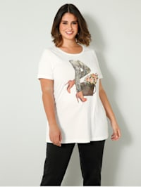 Shirt mit modischem Druckmotiv
