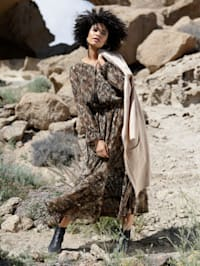 Web-Kleid mit Animalprint