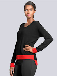 Pullover in edlem Material-Mix
