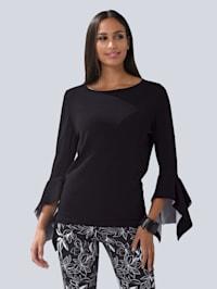 Pullover mit modischen Volant-Ärmeln